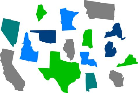 map of united states showing individual states seperate states individual clip at clker vector