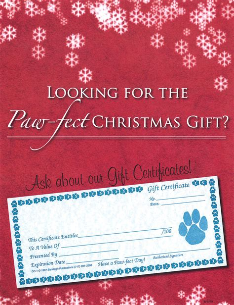 gift certificate sign christmas barkleigh store