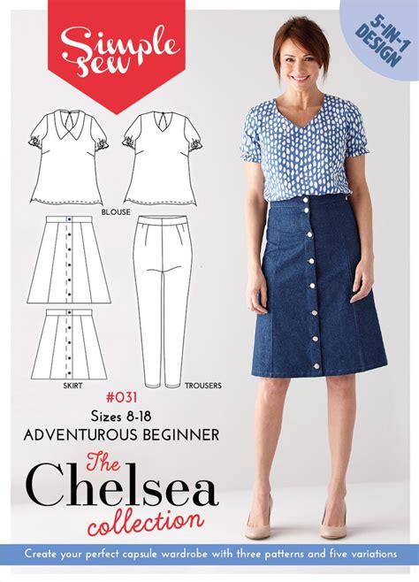 products archive make sewing patterns the chelsea collection simple sew