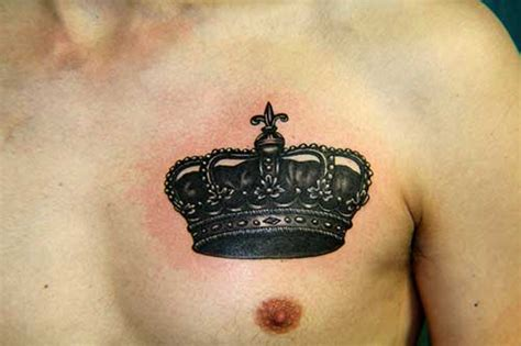 crown tattoo on chest 38 fantastic king crown tattoos