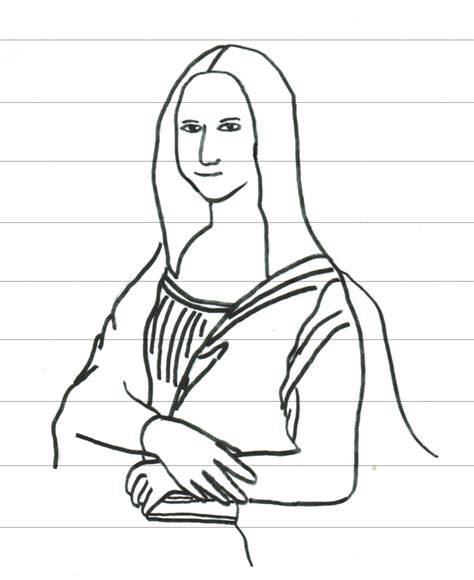 Download Coloring Pages Mona Lisa Coloring Page Mona Da Vinci Printable Coloring