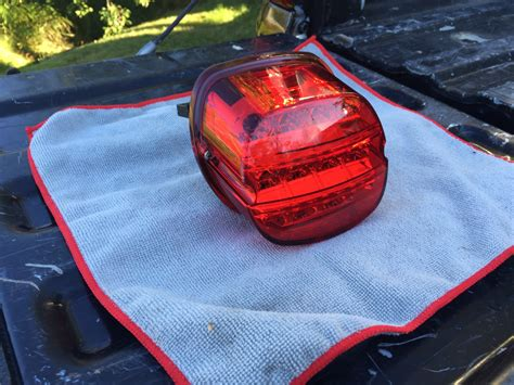 harley davidson led brake light harley led layback tail light no window all red harley