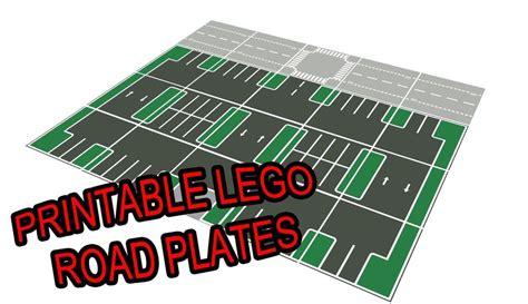 lego printable road pdf lego 11 quot x17 quot printable road plate parking lot dark gray