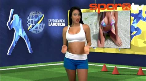 Venezuelan Tv Presenter Yuvi Pallares Strips Naked During Report On Cristiano Ronaldo Metro News