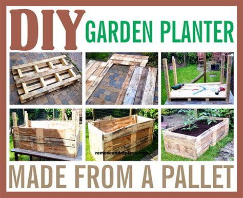 diy garden planters diy raised garden planter made from a wooden pallet