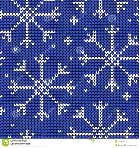 snowflake pattern for knitting knitted seamless winter pattern with snowflakes stock