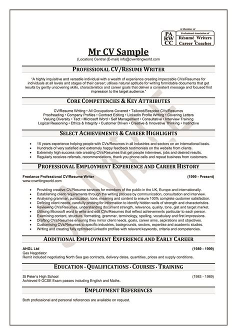 professional writing resume professional cv resume cv template exles