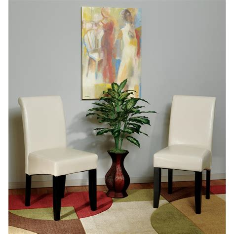 eco dining chairs ospdesigns eco leather parsons dining chair met86cm