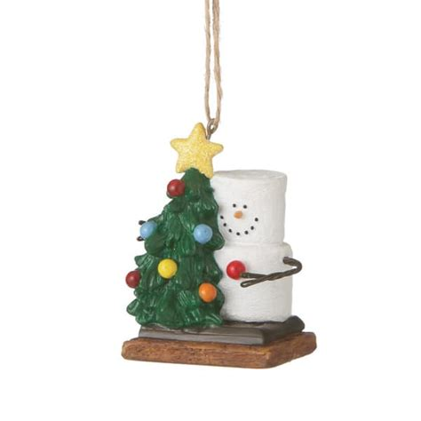 s mores with tree christmas ornament