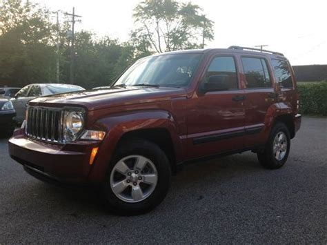 crashed jeep liberty purchase used jeep liberty sport 4x4 no reserve rebuilt