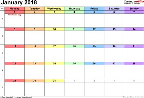 printable calendar january 2018 uk january 2018 calendar with holidays uk calendar