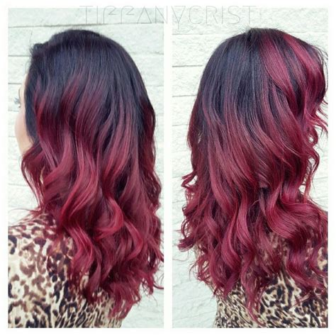 black hair to raspberry hair raspberry hair pravana red burgundy marsala strawberry