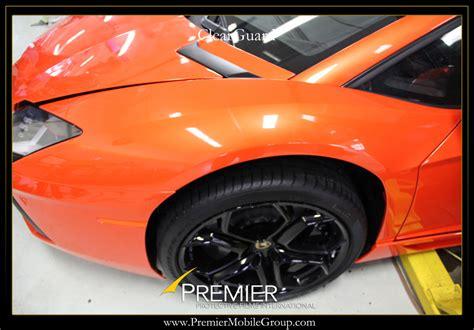 Clear Lamborghini Lamborghini Aventador Gets Clear Wrap For Protection