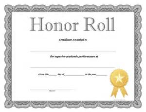 free honor roll certificate template honor roll certificate free printable allfreeprintable