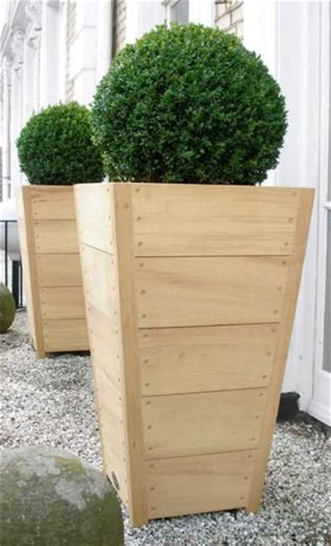 Wooden Planter Boxes For Sale by Wood Planters For Sale In New York City Interior Folaige Design Garden Pots