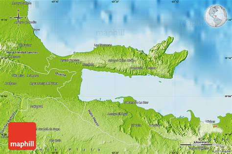 physical map of republic physical map of samana