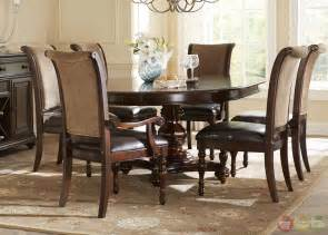 formal dining room table sets kingston plantation traditional oval table amp chairs 7 pc