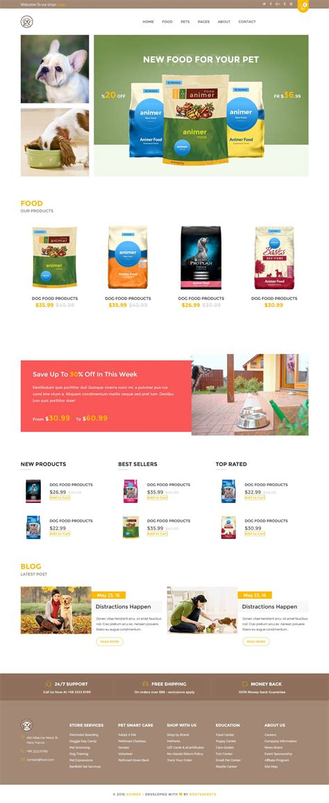 shopify themes supply top 5 shopify theme for pet supplies pet care