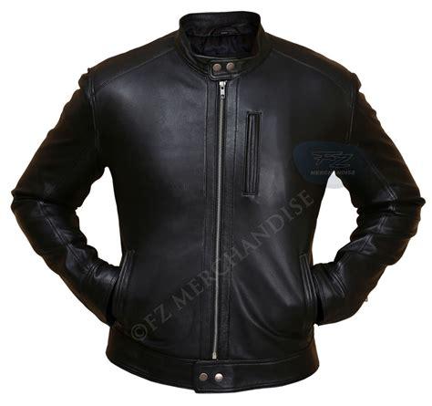 black leather jacket s biker hunt black leather jacket ebay