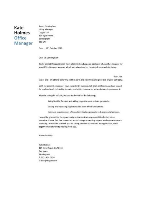 cover letter for dental manager office manager cv sle