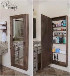 Bathroom Mirror Cabinet Storage How To Make Mirror Storage Home Design Garden