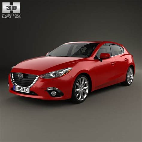 2013 mazda 3 models mazda 3 hatchback 2014 3d model humster3d