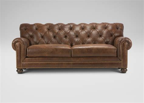 chadwick sofa ethan allen lincoln ave living room chadwick leather sofa sofas loveseats