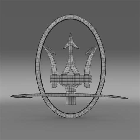 maserati logo drawing maserati logo 3d model max obj 3ds fbx c4d lwo lw lws