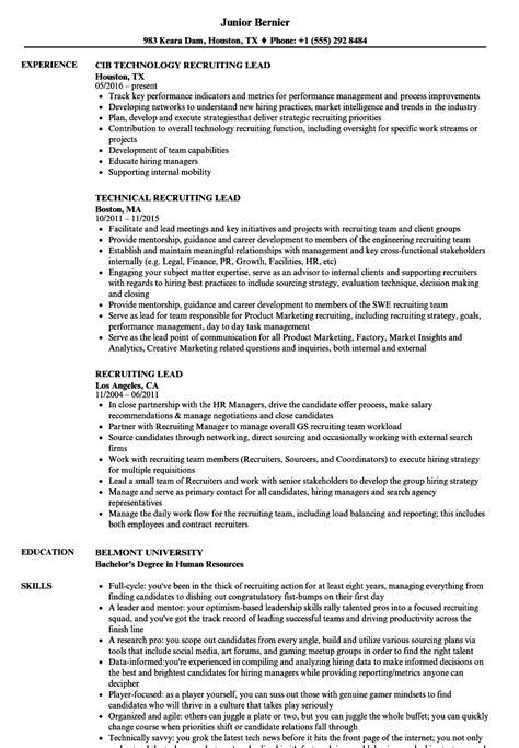 Technical Recruiter Resume Doc