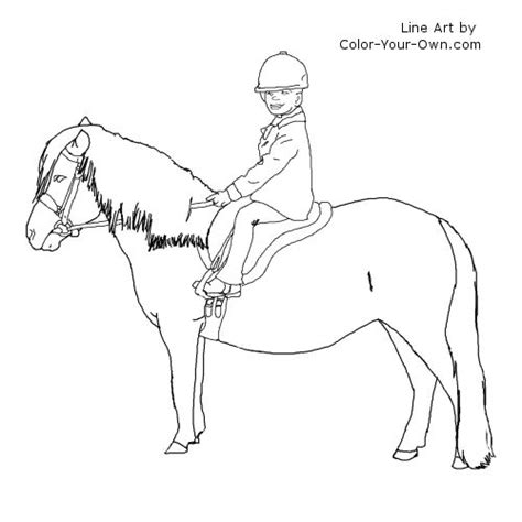 shetland pony coloring pages saddle colouring pages