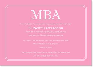 Mba Announcement by Simple Border Pink Graduation Invitations By Ib Designs