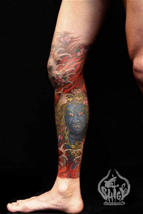 tattoo oriental pierna tatuaje de un ogro japon 233 s en la pierna tattoos