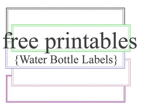 templates for business labels free printable water bottle label template template design