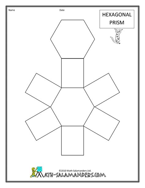 geometry net templates geometric drawings for math draw net regular hexagonal