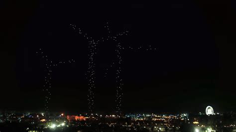 intel drone light show coachella drone light show delights concert crowd iq by