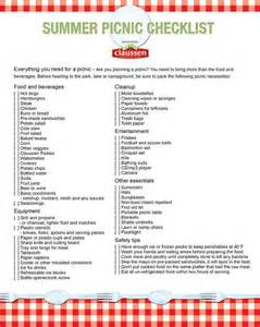 Backyard Bbq List 22 Best Images About Checklist On Charts