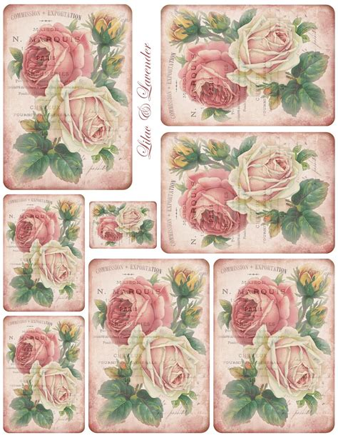 printable calendar vintage roses printable labels tags on pinterest 178 pins