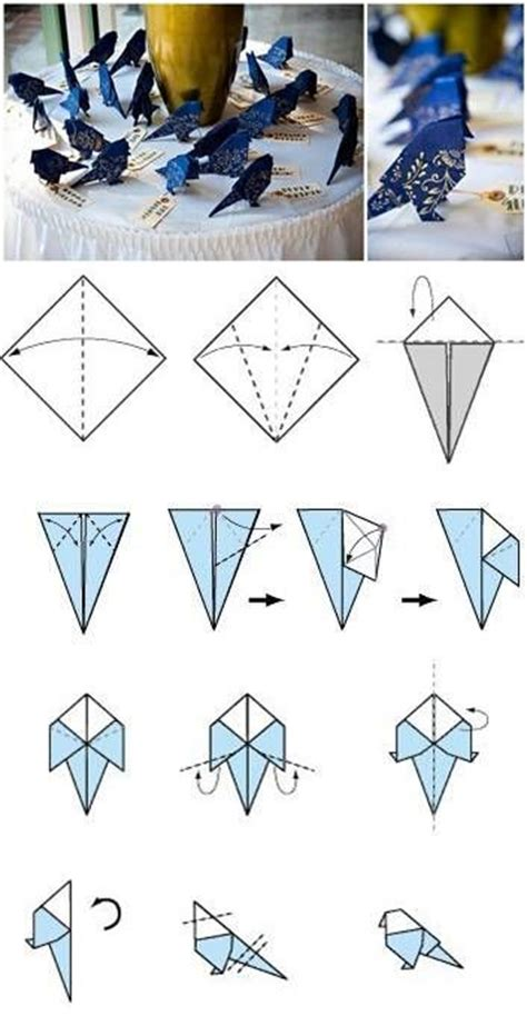 How To Fold A Bird Out Of Paper - 25 best ideas about paper birds on bird