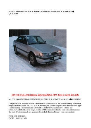 old car repair manuals 1988 mazda mx 6 transmission control mazda 1988 1992 mx 6 626 workshop repair service manual quality by zrbhtdryjun6 issuu