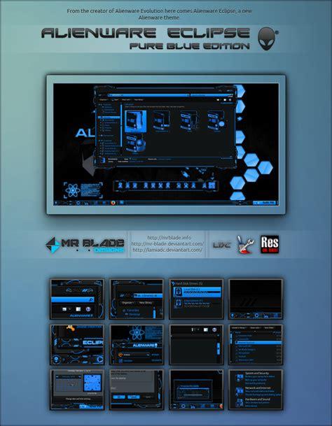 eclipse theme blue alienware eclipse pure blue edition by mr blade on deviantart