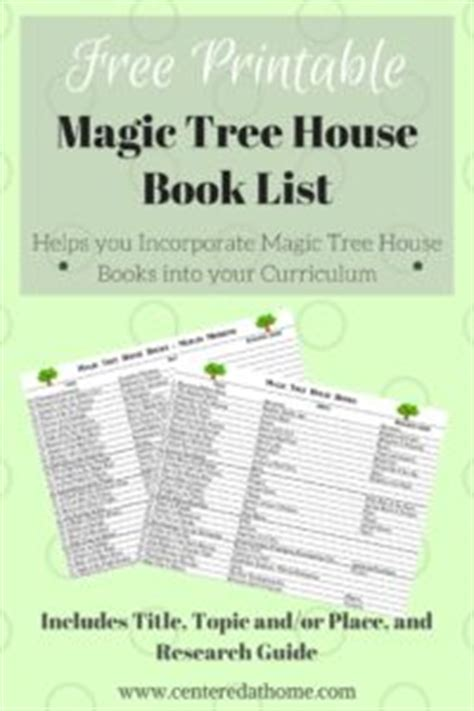 Magic Tree House Book List by Magic Tree House Book List Free Printable
