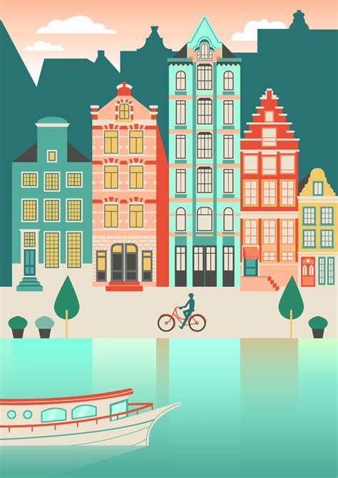 adobe photoshop architecture tutorial how to create an amsterdam cityscape in adobe illustrator