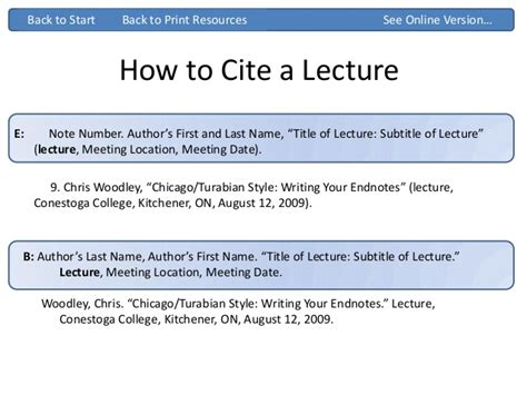 apa format how to cite a powerpoint presentation chicago turabian ppt
