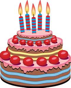 birthday cakes vector birthday cake with burning candles stock vector colourbox