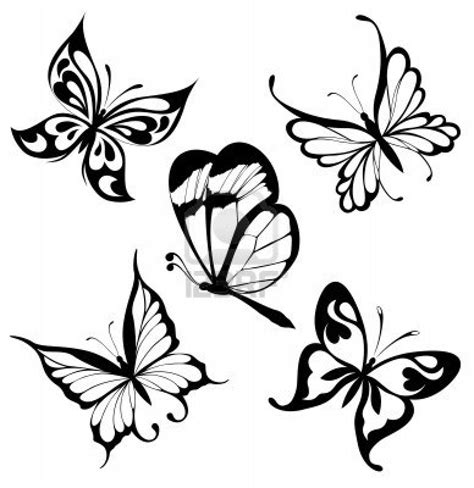 tribal butterfly tattoo images butterfly tattoos and designs page 233