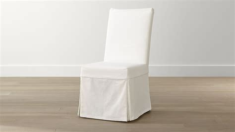 white leather dining chair covers slip white slipcovered dining chair reviews crate and