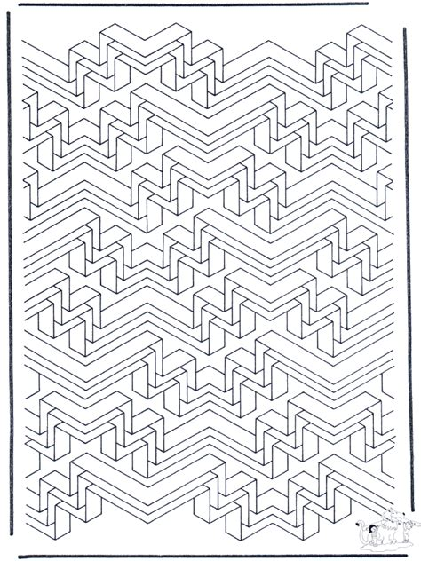 geometric shapes 6 art coloring pages