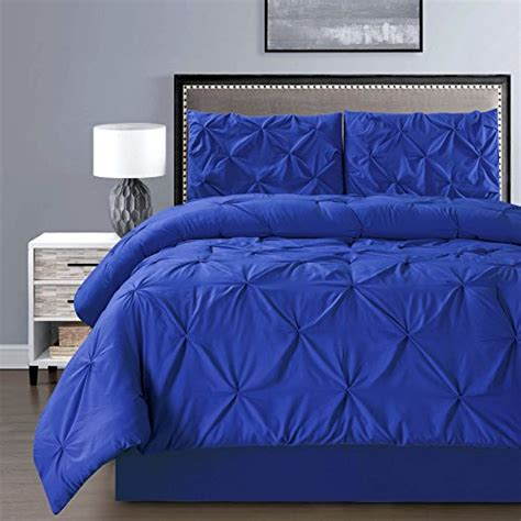 royal blue comforter 3 solid royal blue pinch pleat duvet cover set size bedding home garden linens