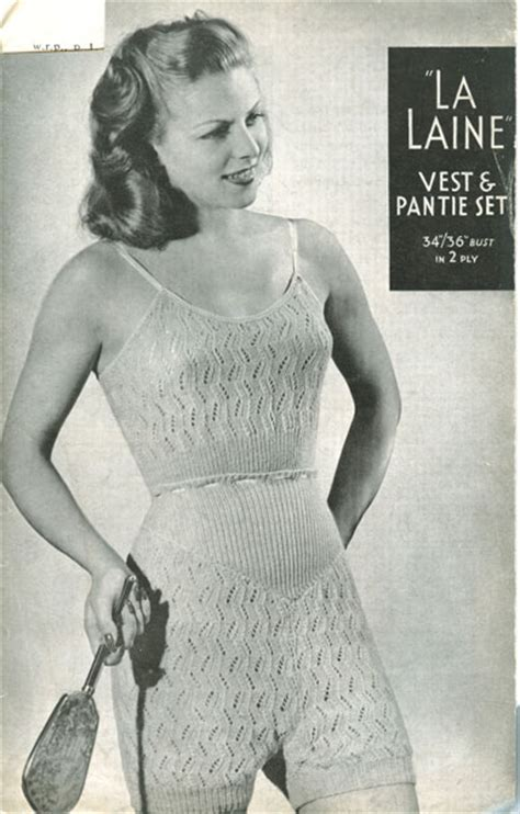 vintage undergarments pattern ladies knitted underwear patterns available from the