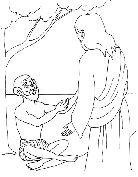 Blind Bartimaeus Coloring Page blind bartimaeus coloring page jesus heals the blind
